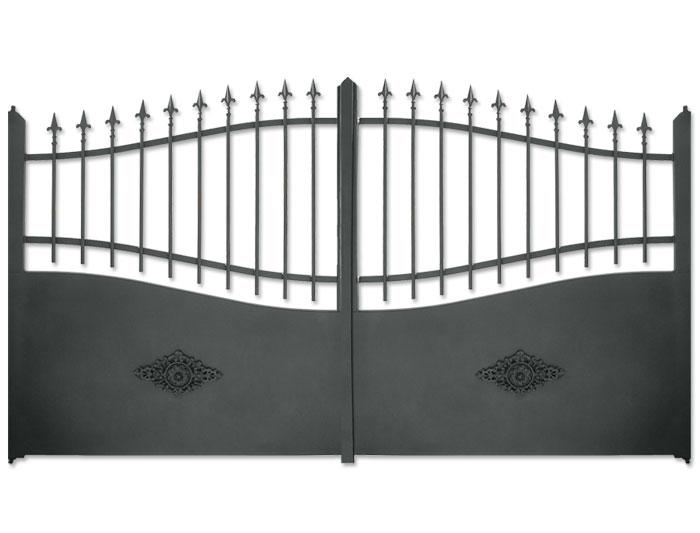 portail battant aluminium esterel. Black Bedroom Furniture Sets. Home Design Ideas