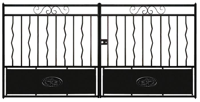 Portail battant fer cahors motorisable option portail for Portail coulissant hauteur 1m50