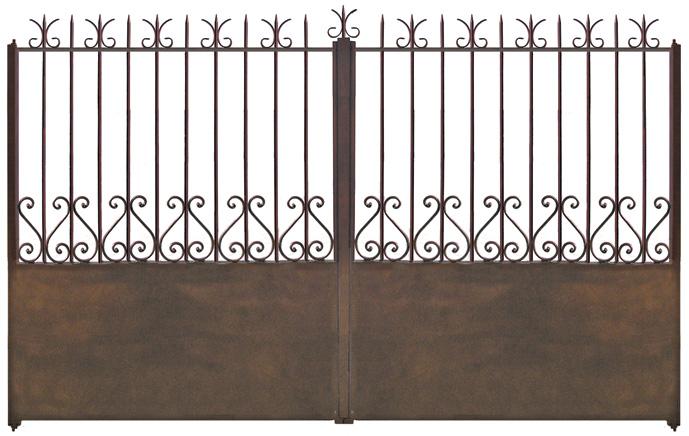 Portail fer capri motorisable for Peinture pour portail en fer