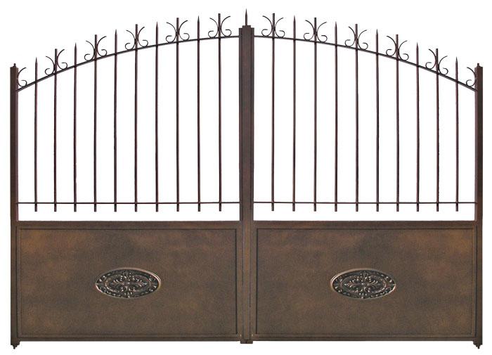 Portail ouvrant fer mirabelle for Portillon hauteur 1m80